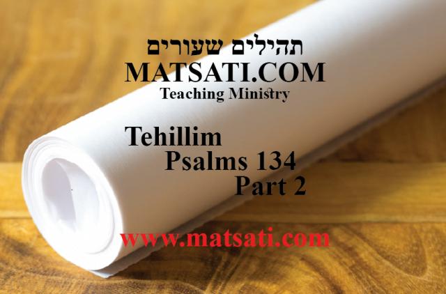 Tehillim / Psalms 134, ספר תהילים קלד, Part 2, Serving the